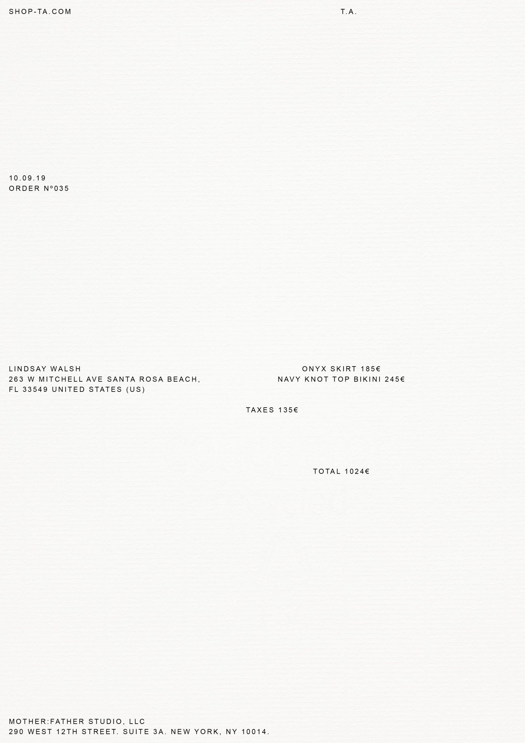 Telsha Anderson Invoice - Cárter Studio
