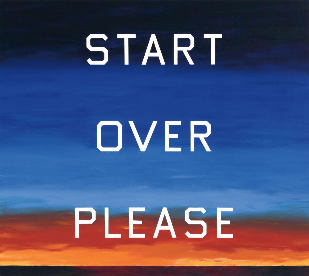 Ed Ruscha Start Over Please - Cárter Studio Moodboard