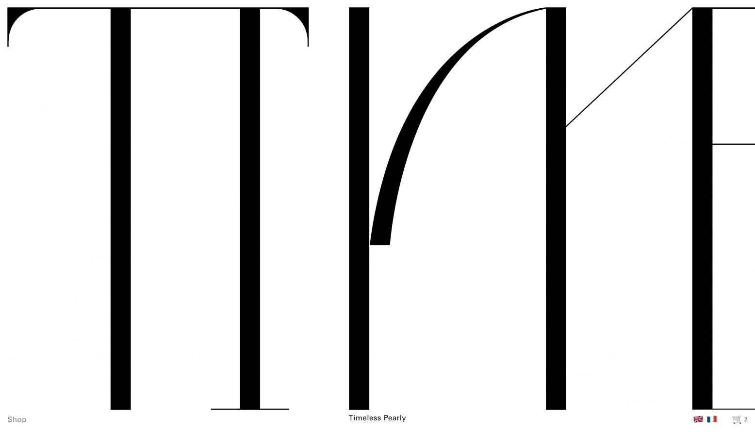 Timeless Pearly Website Logo - Cárter Studio